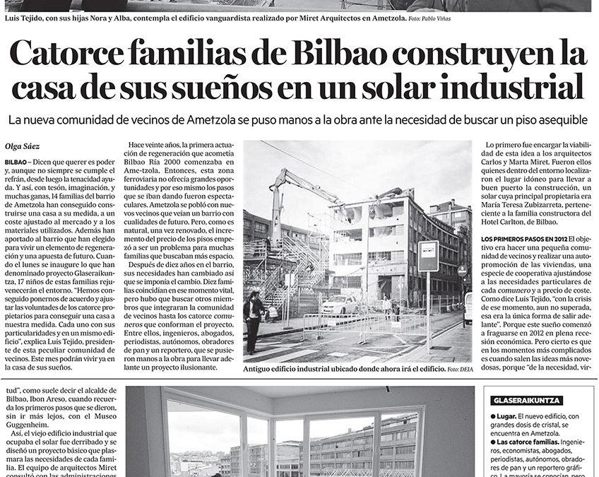 """Ibon Areso inaugura el edificio """"Glas Eraikuntza"""". Deia. Noticias de Bizkaia.."""