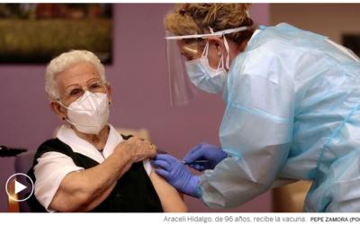 La primera vacunada del coronavirus, la covid-19  en España. 27/12/20