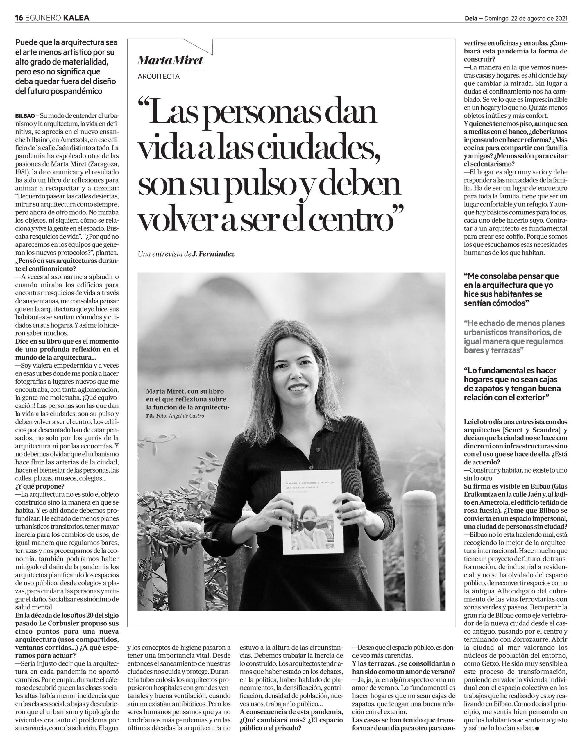 Entrevista Marta Miret arquitecta
